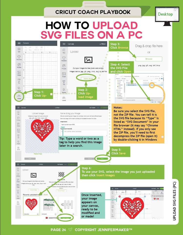 Cricut Coach Playbook: Quick and Easy One-Page Diagrams for Popular Tasks in Cricut Design Space #cricuthacks