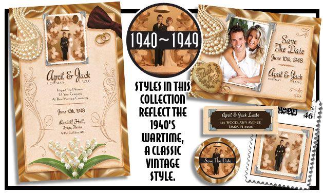 1940 Wedding Ideas: 1940-1949 Vintage Wedding Invitations