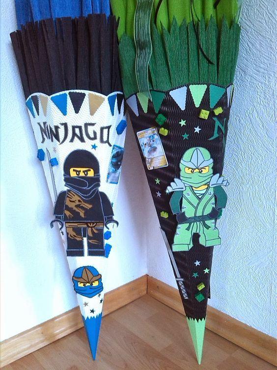 Das Creativchen Schultute Lego Ninjago Vorlagen Schlange Schultute Selber Basteln Ninjago Schultute Schultute Basteln