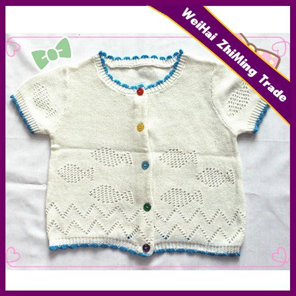 New Short Sleeve Hand Knit Baby Boy Sweater Designs#baby boy ...