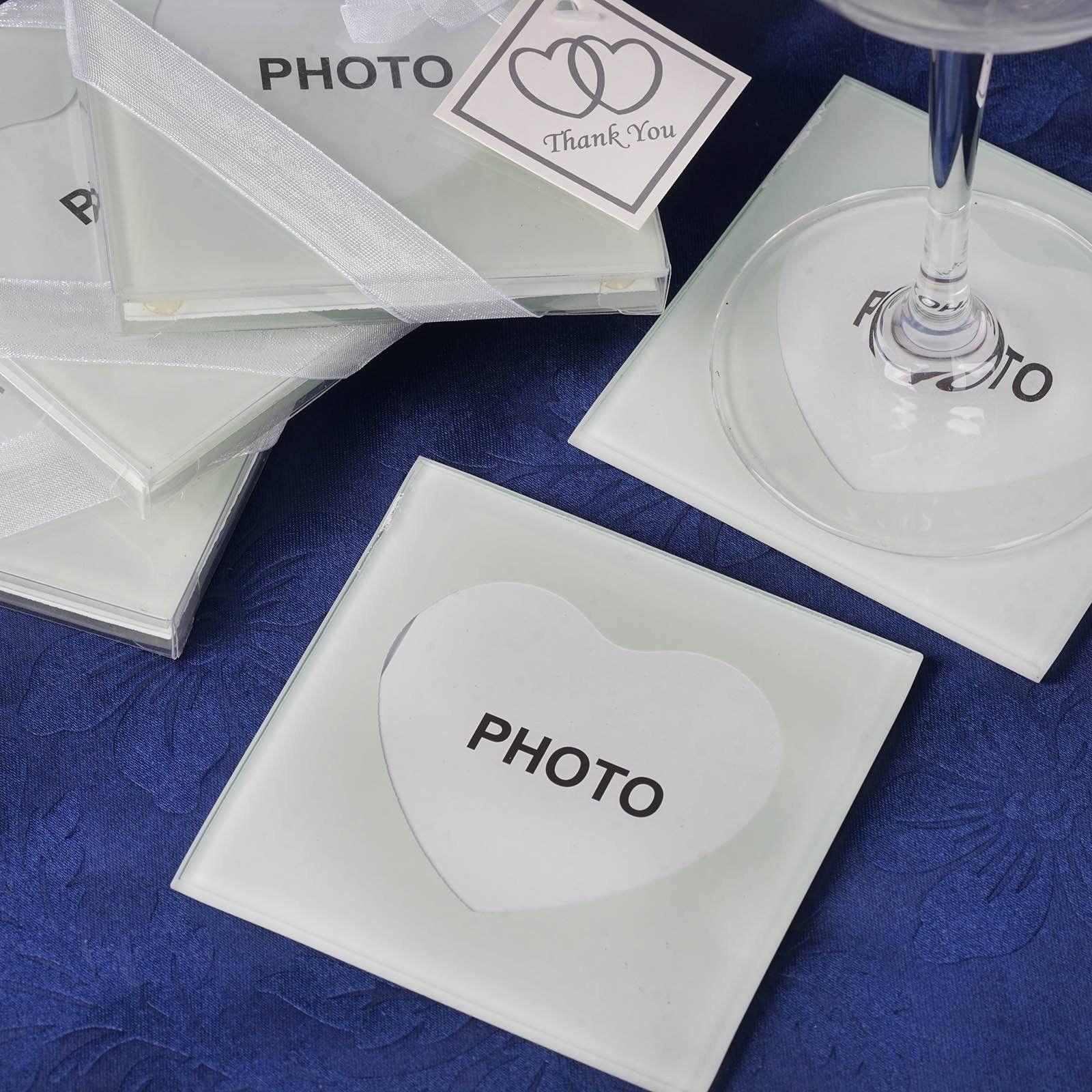Glass Heart Frame Coasters