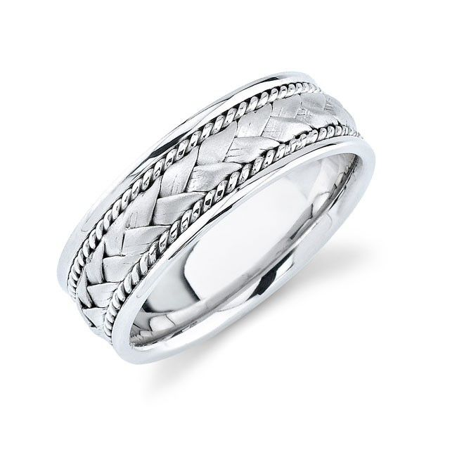 unique mens wedding bands white gold search