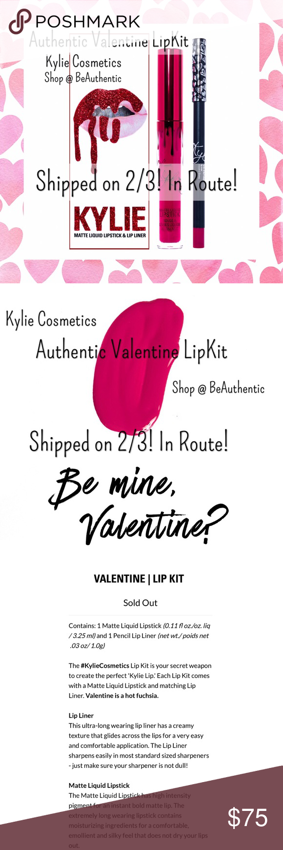 dec2c27a94b 💋In stock! Authentic Kylie Valentine LipKit 🆕💋Authentic Kylie Valentine  kit! Just