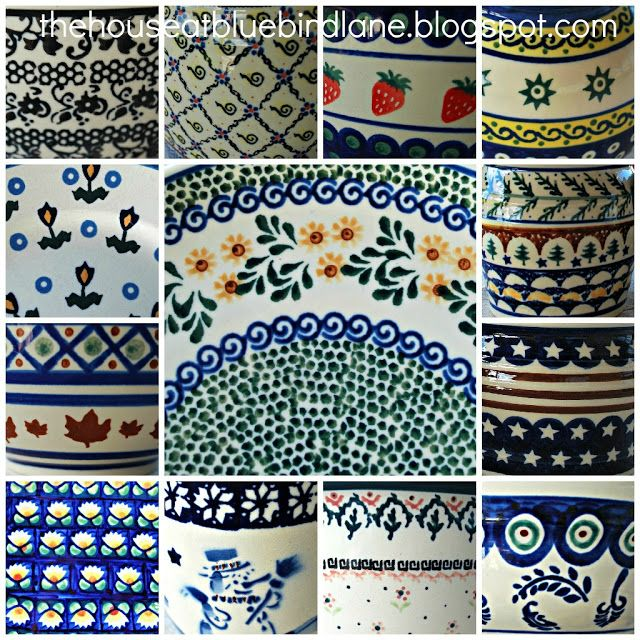 Polish Pottery Patterns Includes Strawberry Pattern Top Right New Polish Pottery Patterns