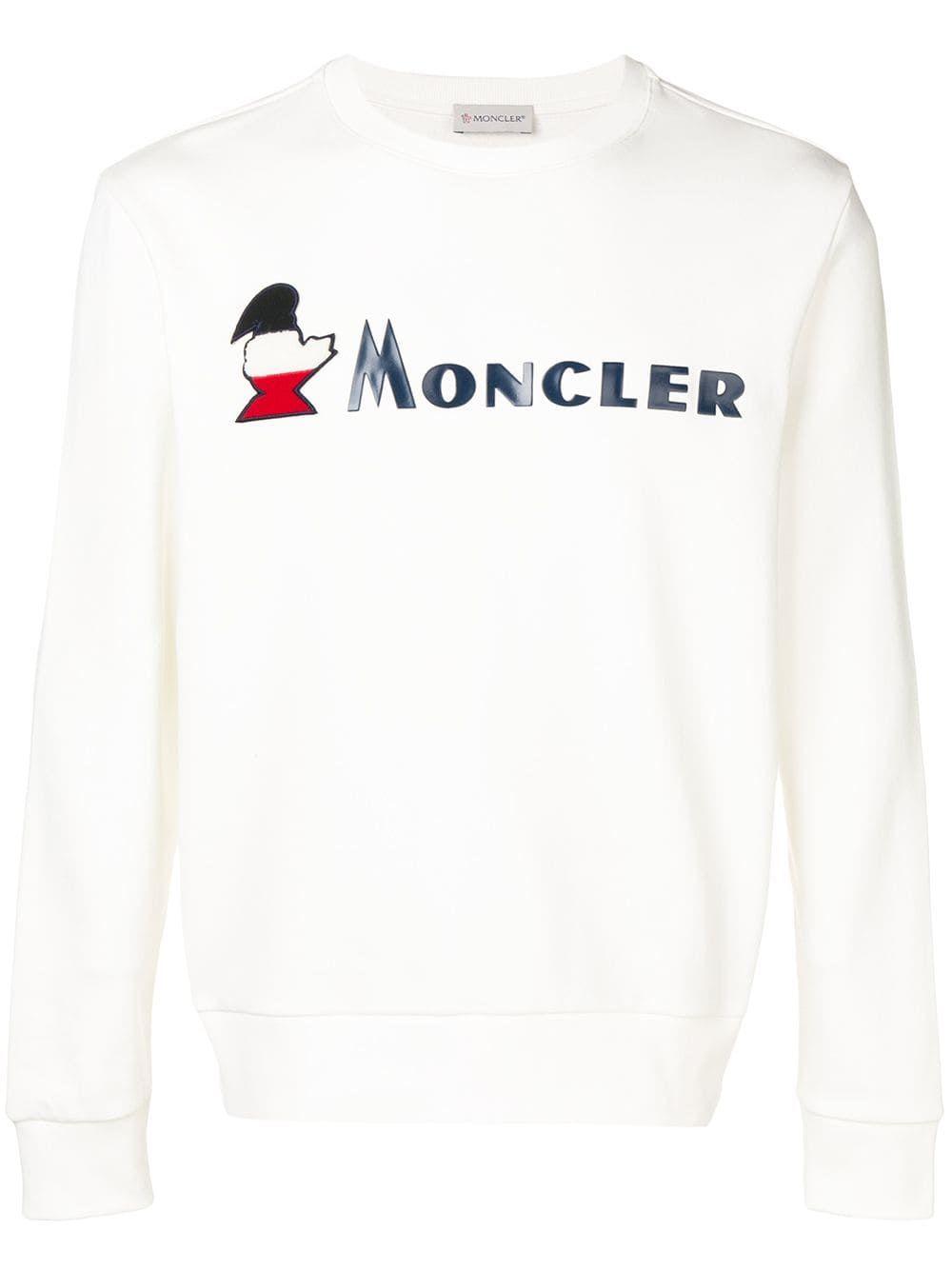 de2c4aee3 MONCLER MONCLER LOGO PRINT SWEATSHIRT - WHITE.  moncler  cloth ...