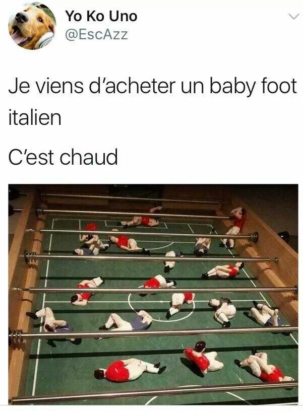 baby foot italien blague