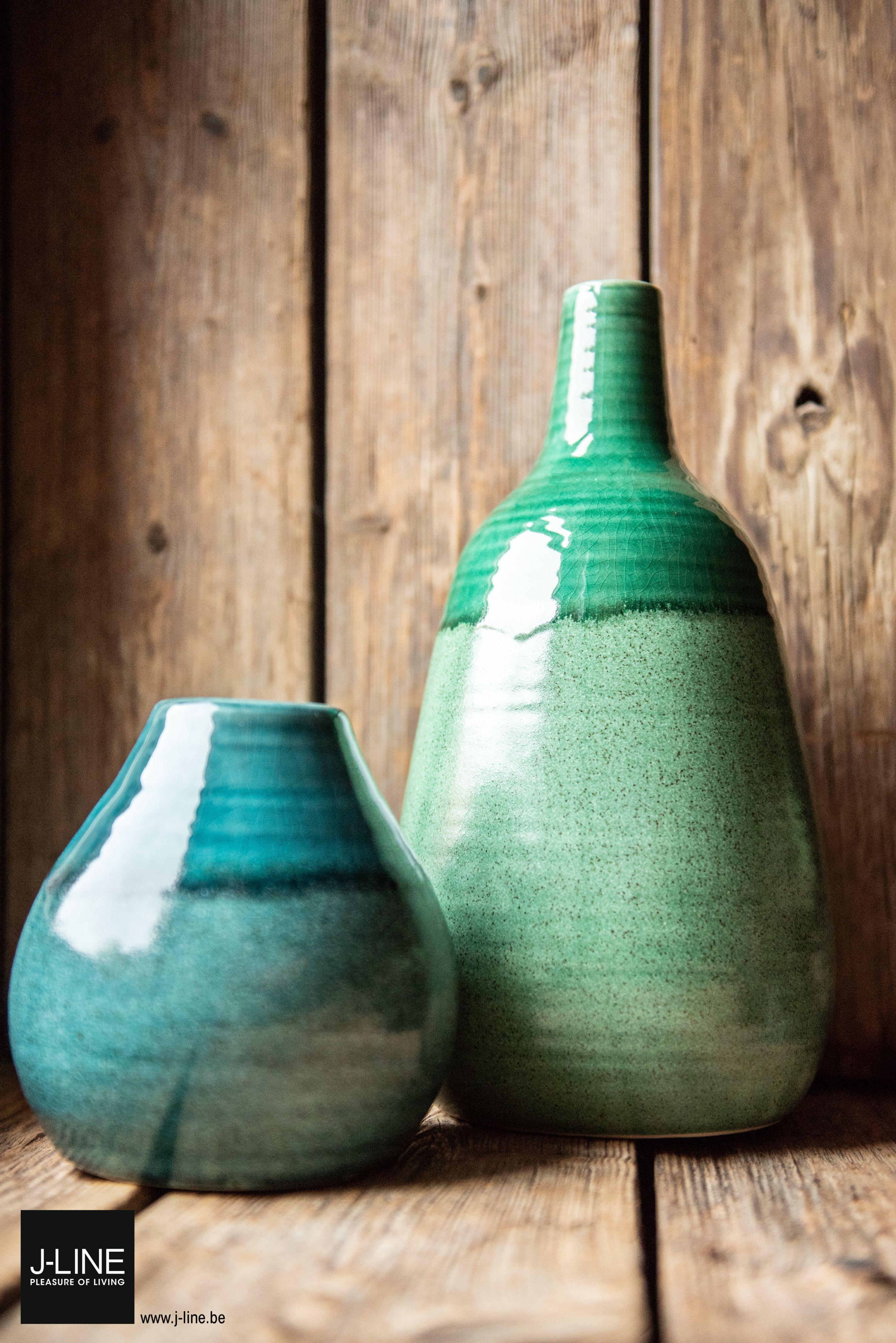 Jline Decoration Bistro Retro Spring Summer Ss2019 New Collection Vase Ball Earthenware Green Pleasureofliving Jlinedecoration