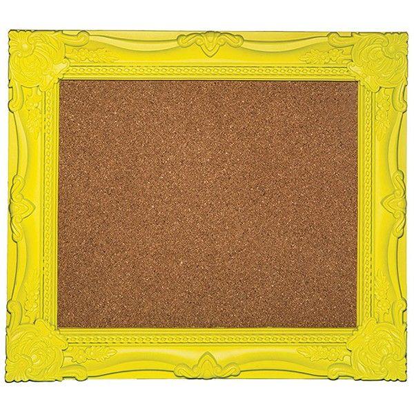 Quadro Cortiça Moldura Amarela