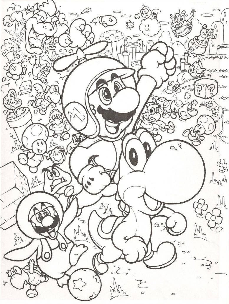 New Super Mario Bros. Wii by mattdog8  Pokemon coloring