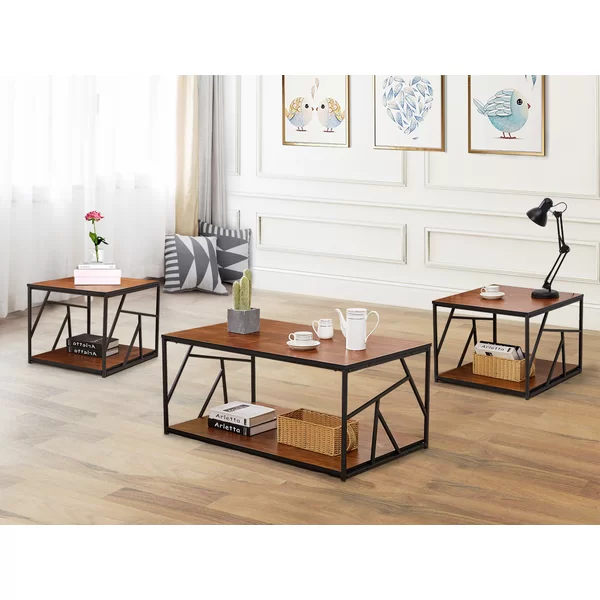 Middleborough 3 Pieces Coffee Table Set Coffee Table 3 Piece