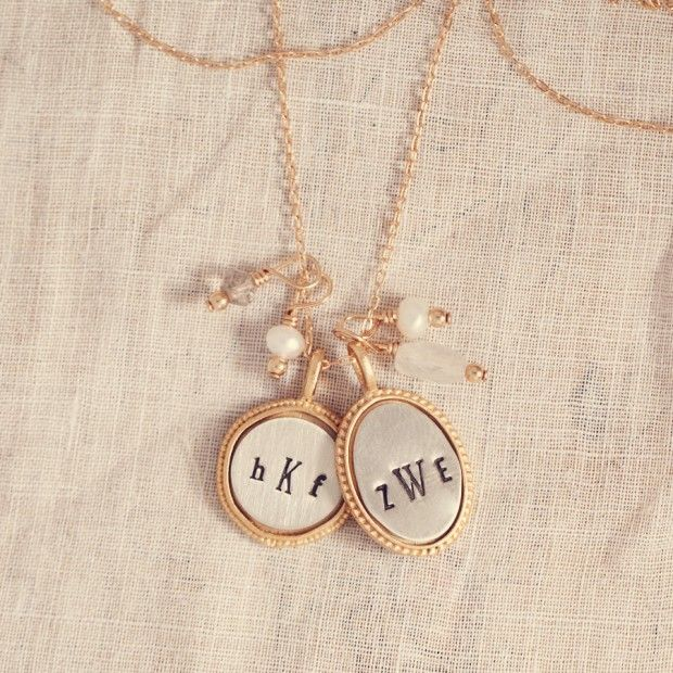 Monogram Necklace Initial Necklace Ambrosia Gold Pearl Jewelry