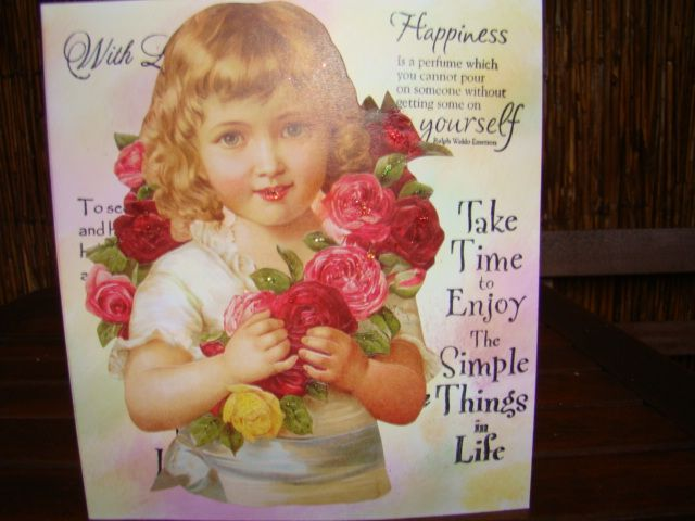 Stamped en collage card. Cards: Carla.  My own creations/cards