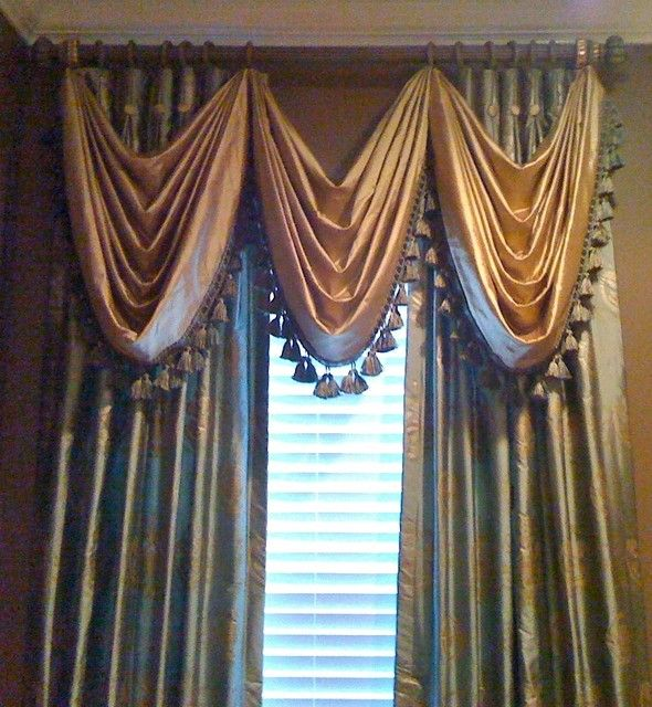Traditional Window Treatments Living Room: Silk Richness Traditional Window Treatments