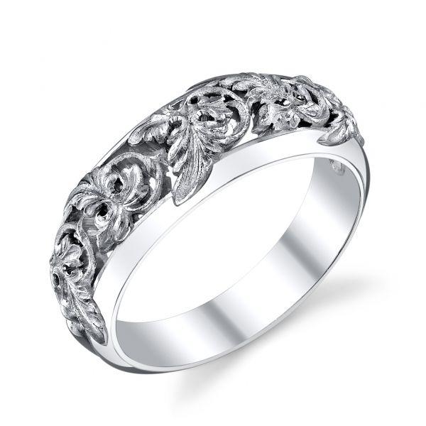 Van Craeynest handengraved Art Deco wedding ring design No 941