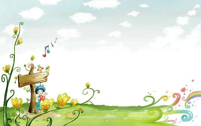 Spring Fiaryland Fantasy Spring Illustration Wallpaper 1920 1200 11 Cartoon Wallpaper Cartoon Background Spring Illustration Full hd cartoon background hd