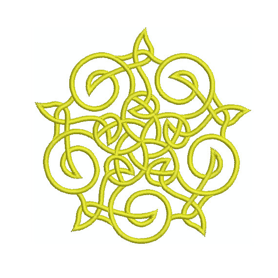 Machine Embroidery Design Instant Download Celtic Knotwork Star