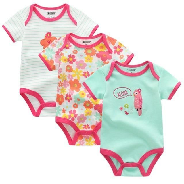 284f80e2af8cf 2018 Fantasia Infantil summer Romper Baby Sayings Pretty In Flamingo ...