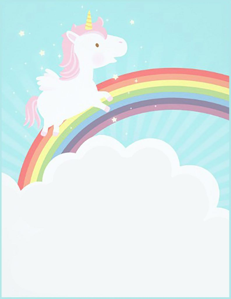 Free Printable Unicorn Invitation Card Soo Cute Pinterest