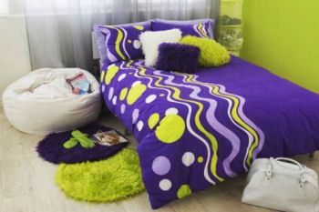 S Bedding Bedrooms And Decorating Ideas Purple Lime Green Comforter Sets Bedroom