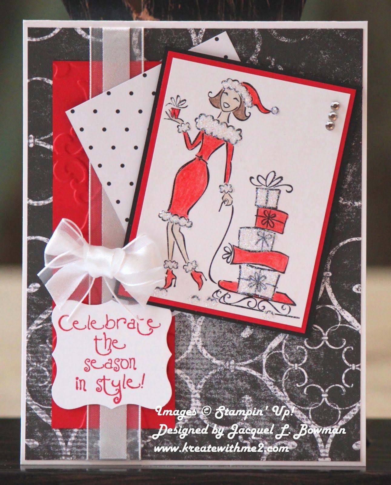Abc Creation concernant fun christmas card made with the sassy & seasonal stamp set. i made