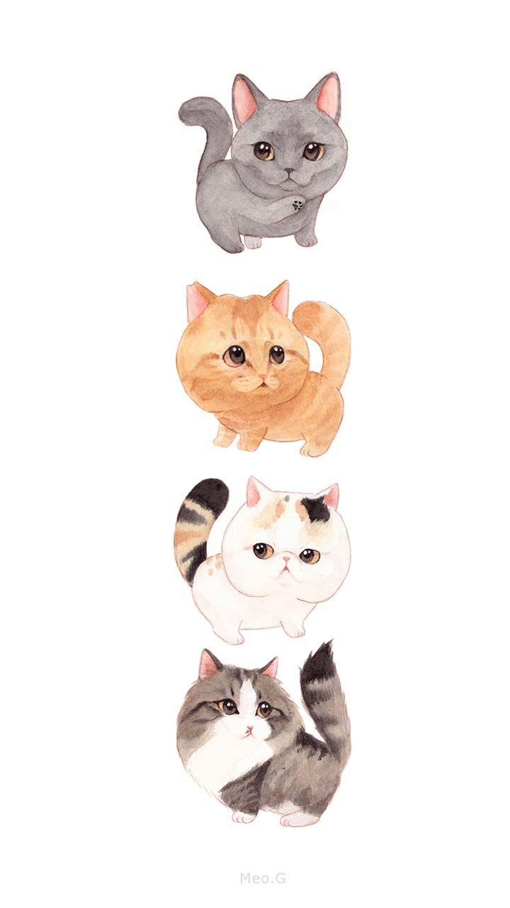 Cats' Family20 B   Gambar hewan, Seni kucing, Seni animasi