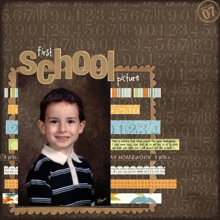 Carter\'s First School Picture - Scrapbook.com | SCRAPBOOKING | Pinterest