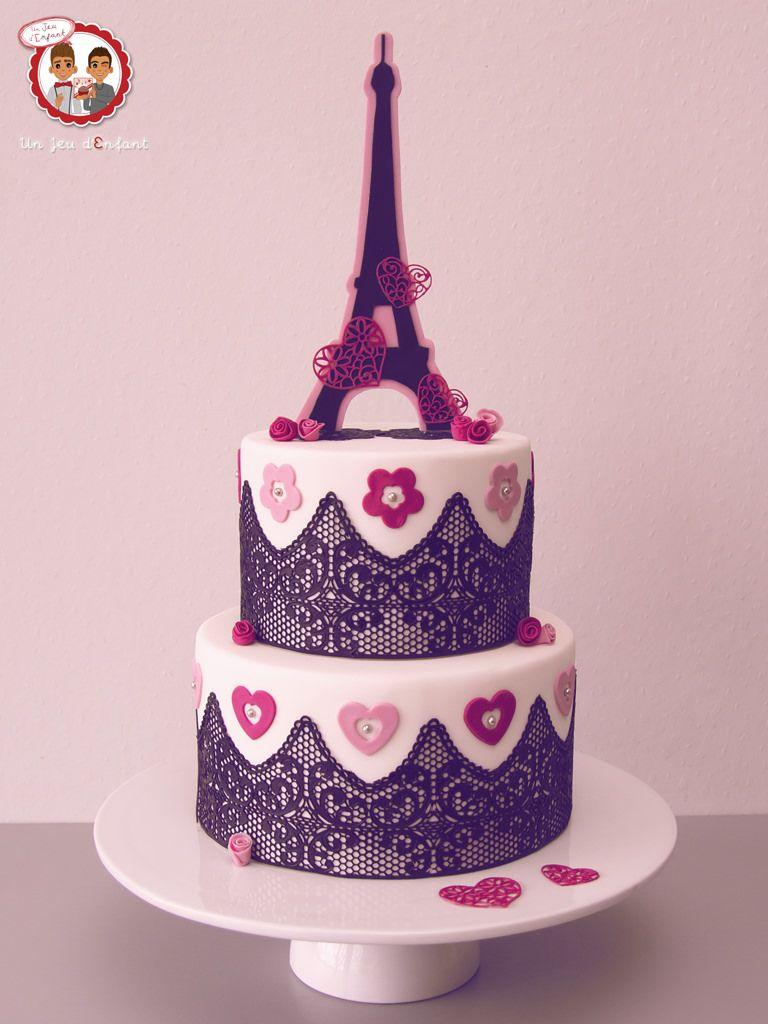 Cake Sugar Paris G¢teau th¨me Paris réaliser lors du Salon Sugar Paris 2014 silikomart