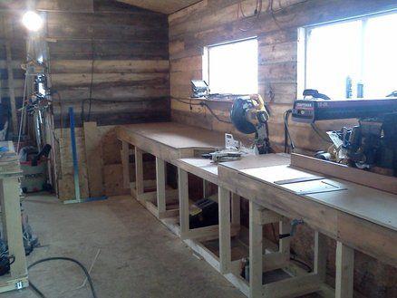 miter saw radial arm station shop ideas pinterest garage atelier et scie onglet. Black Bedroom Furniture Sets. Home Design Ideas
