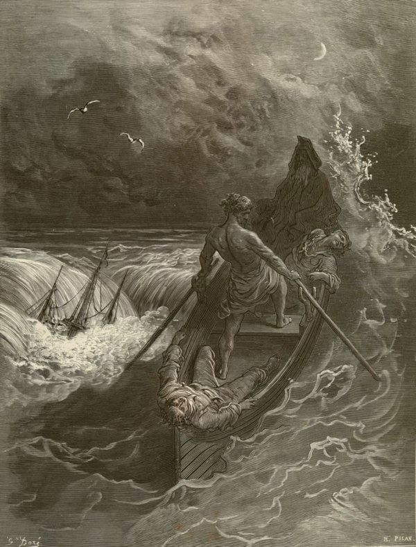Images from Gustave Doré's illustrations to The Rime of the ...