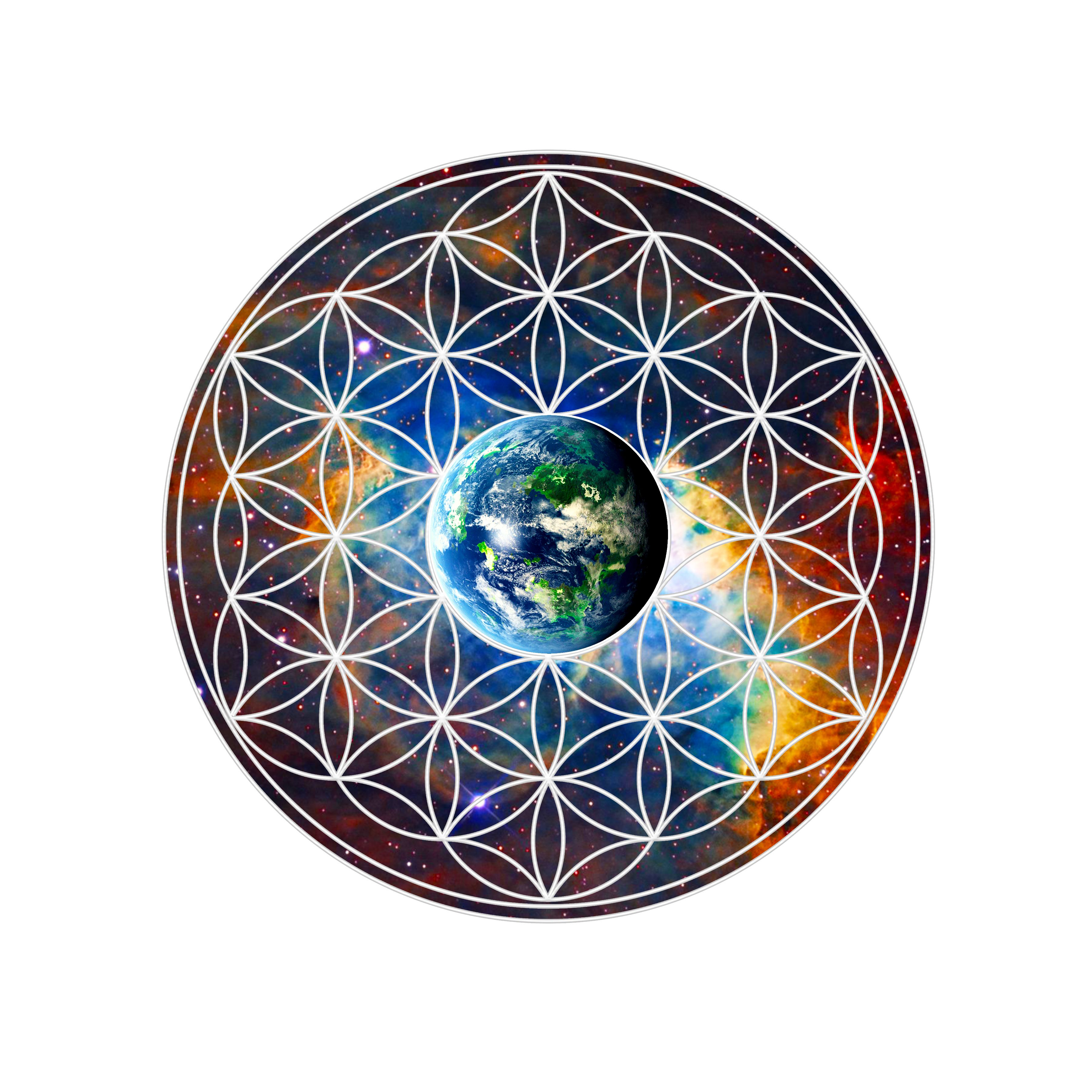 Planet earth in flower of life blueprint sacred geometry pinterest planet earth in flower of life blueprint malvernweather Images