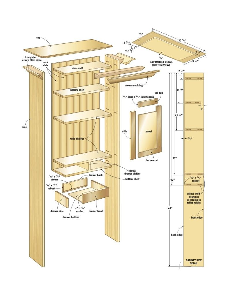 Large Bathroom Wall Cabinets Plans | Woodworking | Pinterest ...