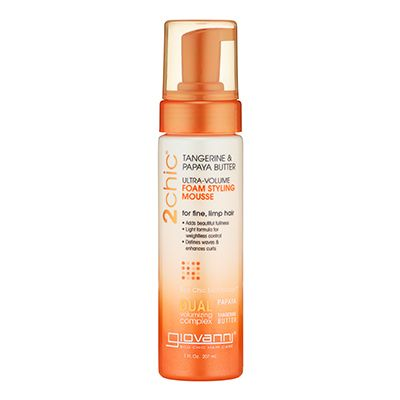 Lightweight Formula For Weightless Hold Styling Mousse Hair Mousse Giovanni Cosmetics