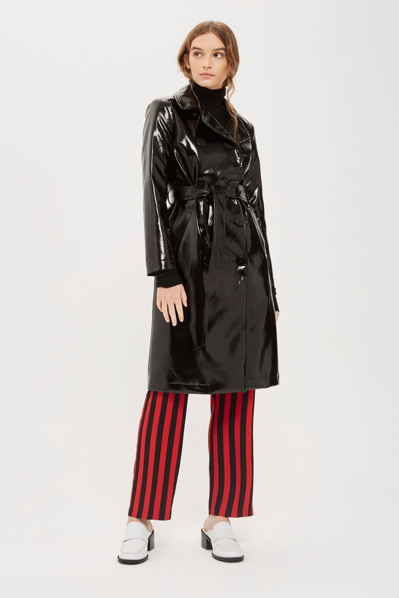 Clean Vinyl Trench Coat in 2020 | Stylish winter coats ...