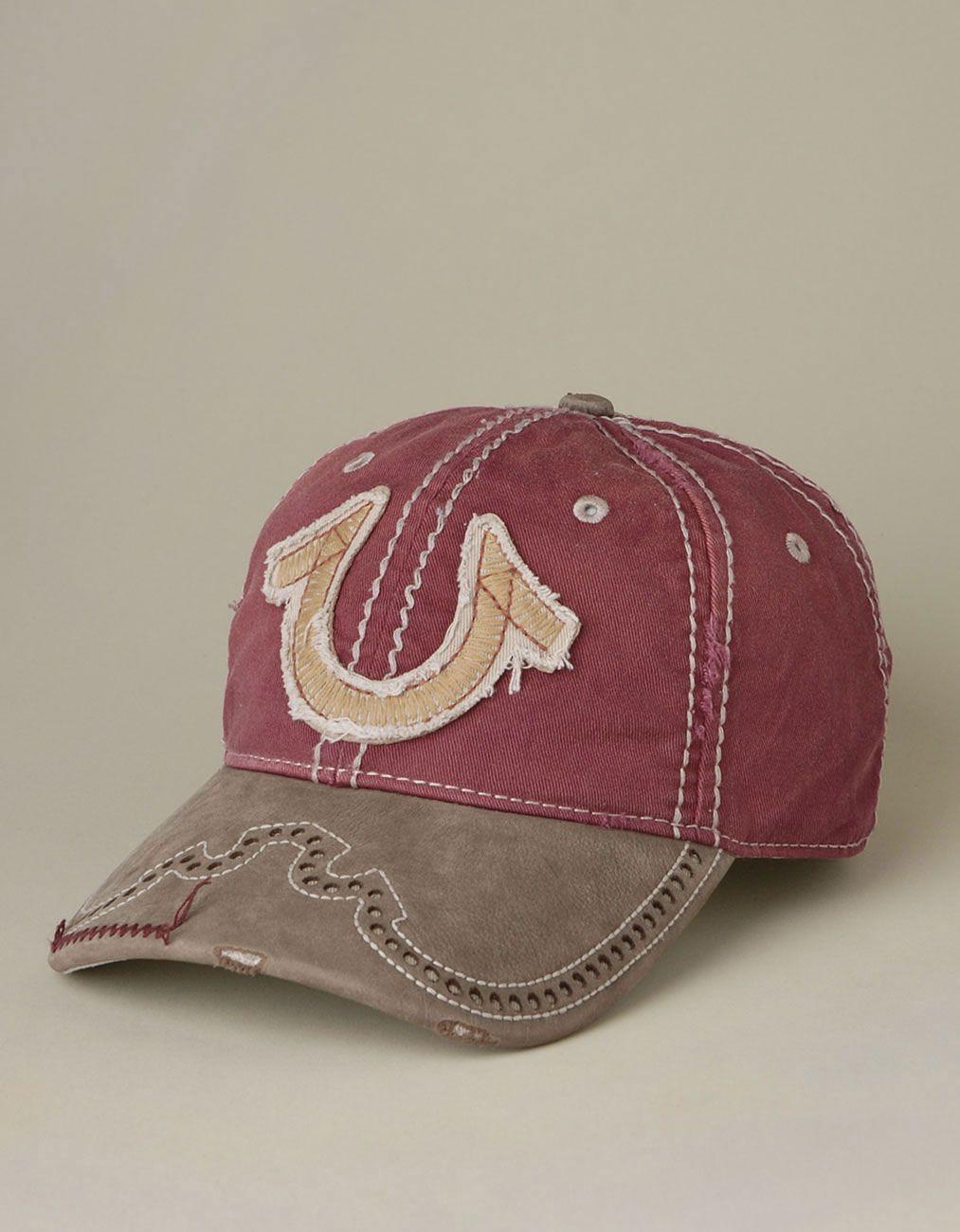 mens western horseshoe logo baseball cap redwood true religion brand jeans s s 2014 hats. Black Bedroom Furniture Sets. Home Design Ideas