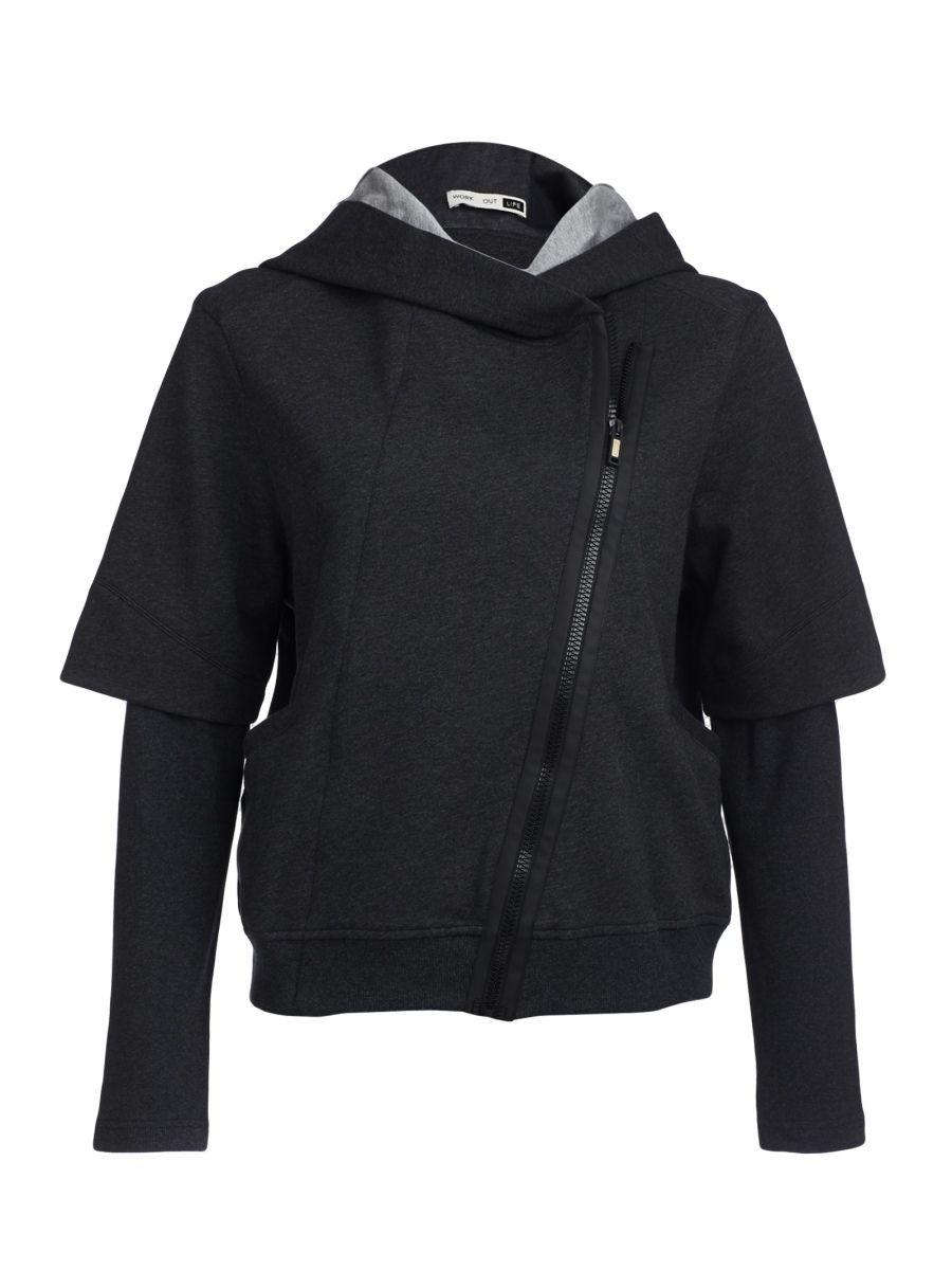 how to wear double zip hoodie