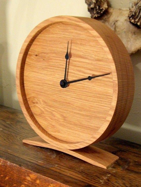 Large Wooden Clock Part - 18: Large Wood Clock