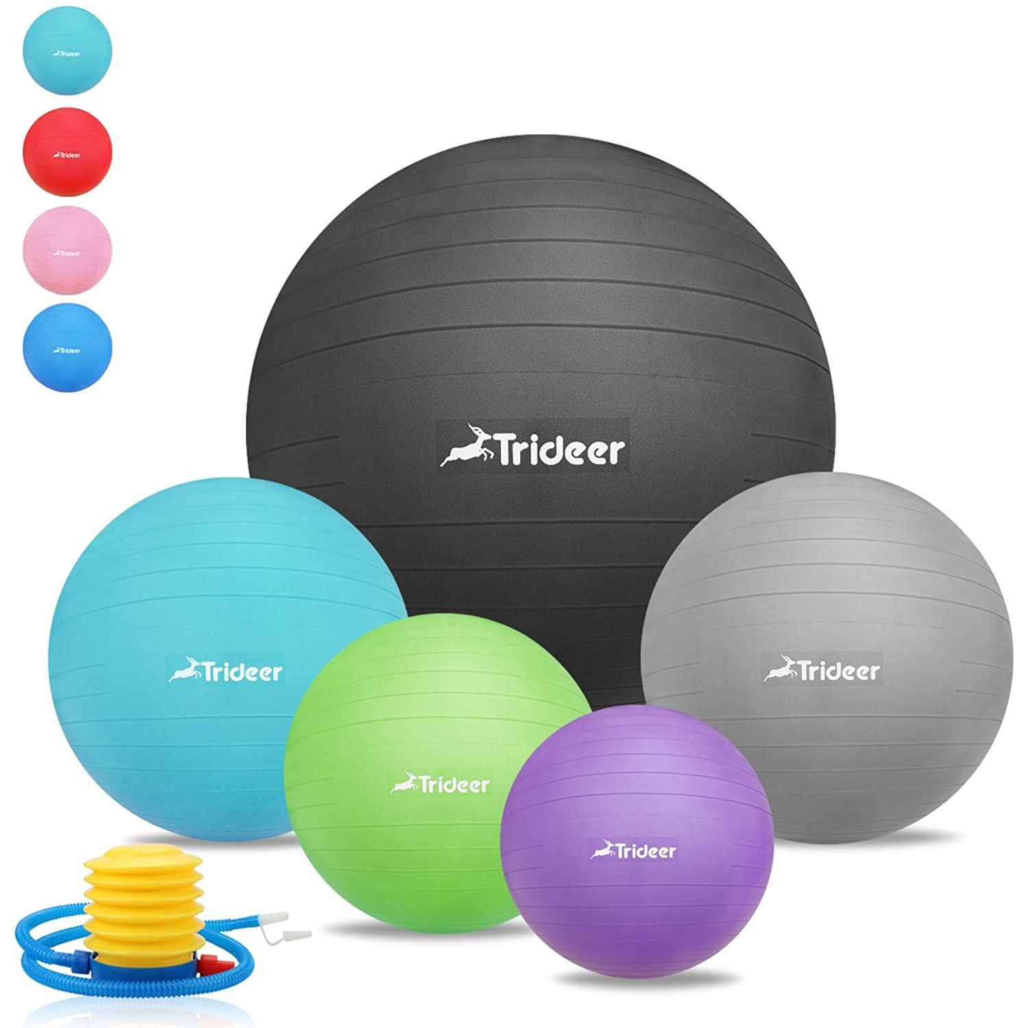 Trideer Exercise Ball Anti-Burst Heavy Du Extra Thick Yoga Ball Chair 45-85cm