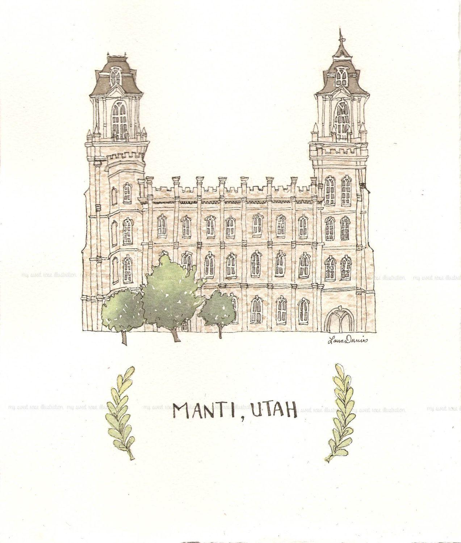 Manti Lds Temple PRINT