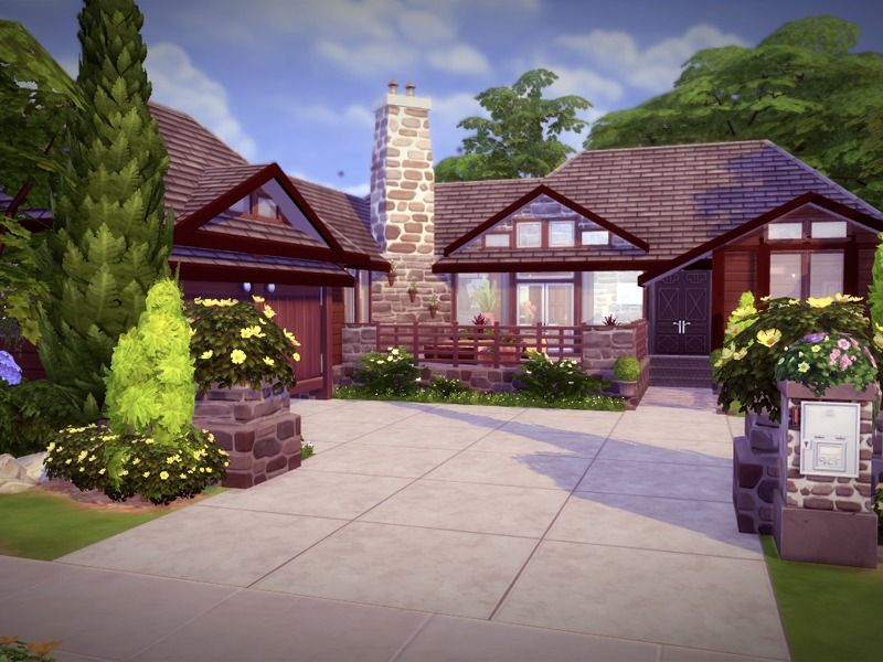 A Beautiful Wood Stone Home With All The Charmness Of A Cottage