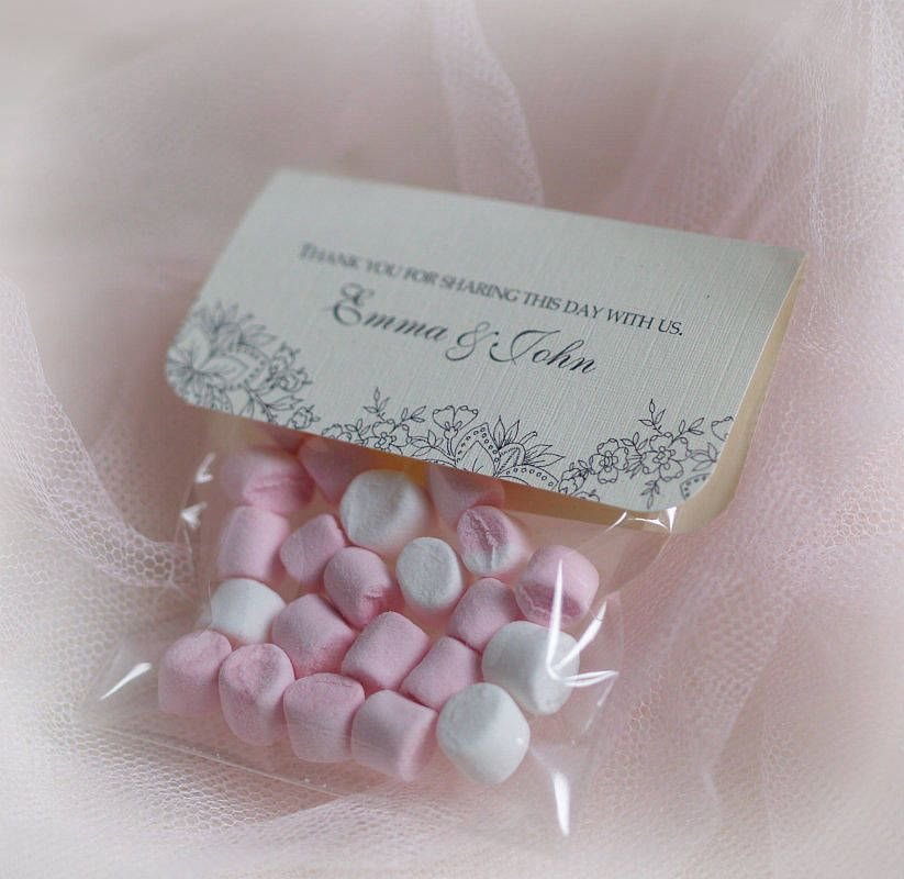 Personalised Wedding Sweet Favours Bags