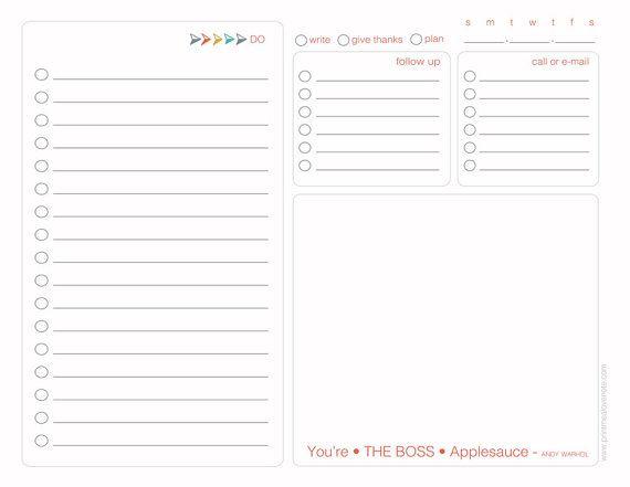 To Do Simple Digital Planner for Entrepreneurs by PrintMeALoveNote
