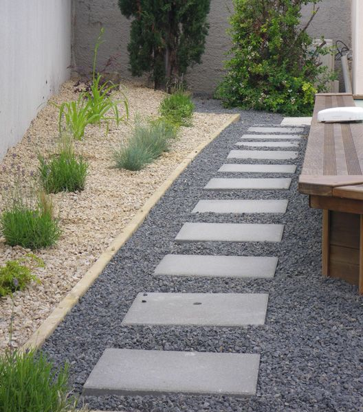 All e dalles et graviers exterieur pinterest gravier dalles et all es for Allee de jardin en pouzzolane