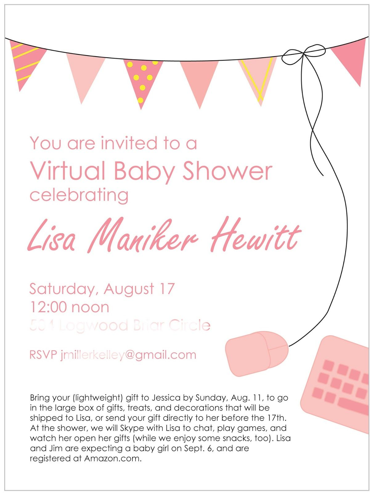 The Parsonage Family: How to Throw a Virtual Baby Shower