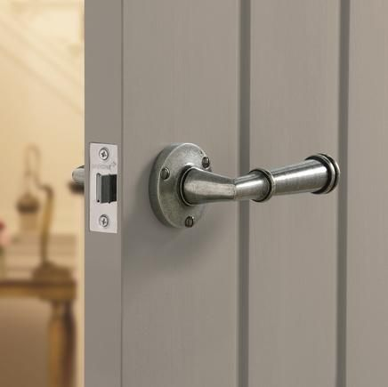 Durham Solid Pewter Rose Door Handle