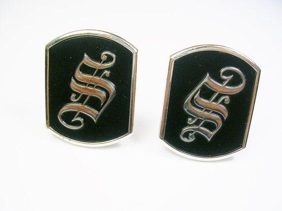 Vintage MID CENTURY SWANK Cufflinks silver tone by unclesteampunk, $14.95