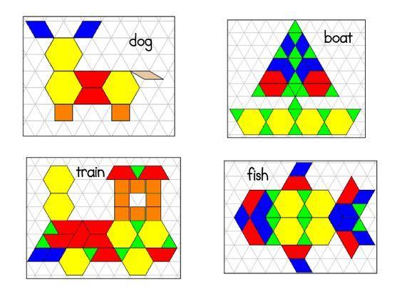 Pattern Blocks Pdf Index Card Size To Duplicate
