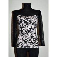 dddd491f8c Fekete-fehér, necc betétes Envy felső | Envy ruhák | Dresses, Formal ...
