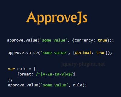 ApproveJs – Simple Javascript Validation Library #validation