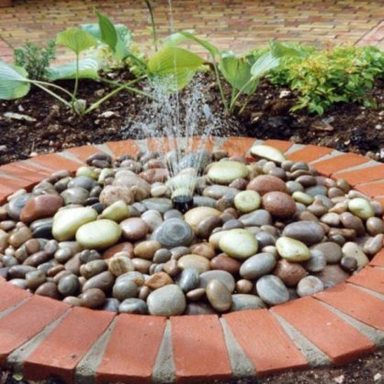Solar Ed Pebble Fountain Water Feature Kit With Led Light More