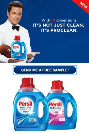 Free Persil Proclean Laundry Detergent Sample Directions Sample